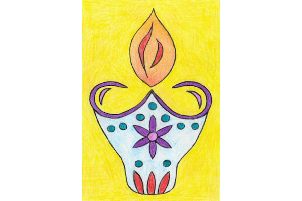 Diwali Colouring Pictures