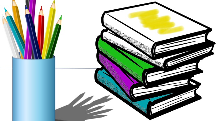 42 Colouring Pictures About Books and Literature