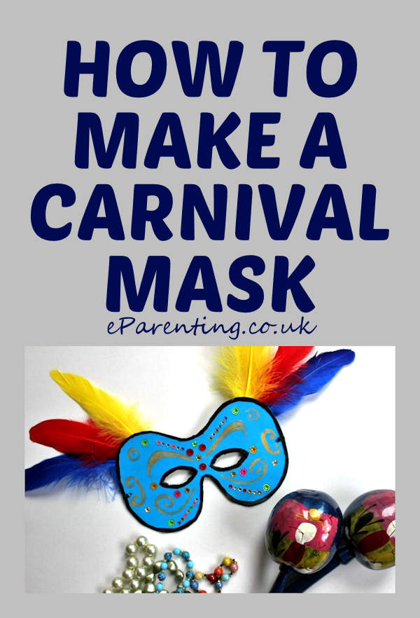 How to make a Carnival Mask - includes a free printable mask template.
