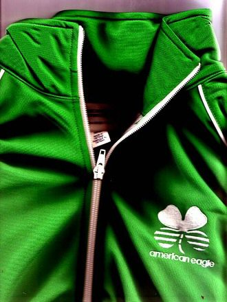Green Track Top