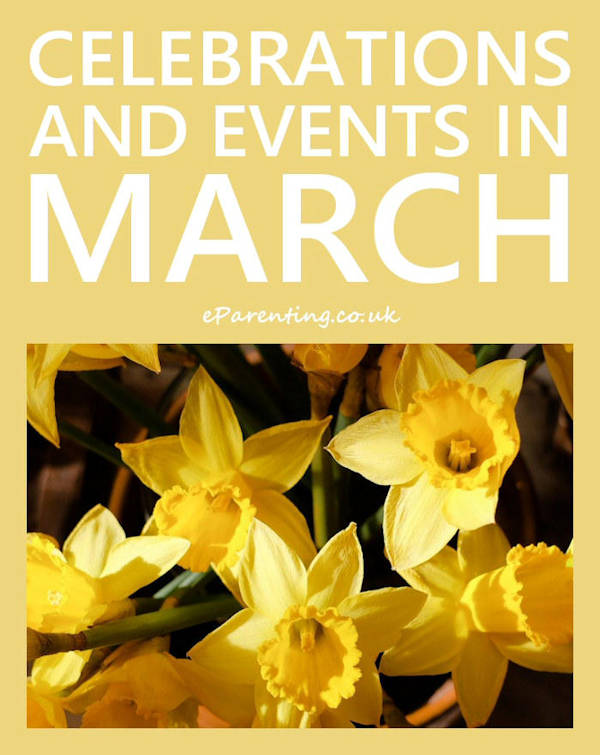 Celebrations and Events in March 2020