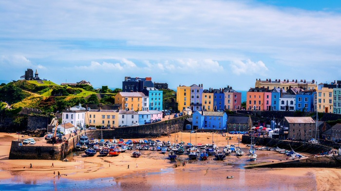 The harbour at Tenby, Pembrokeshire, Wales